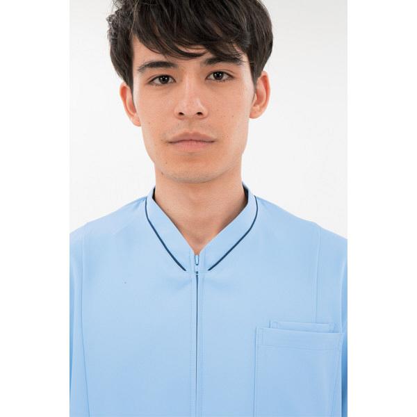 住商モンブラン ジャケット(男女兼用) 半袖 ブルー/ネイビー M 72-1224 (直送品)