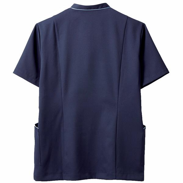 住商モンブラン ジャケット(男女兼用) 半袖 ネイビー/ブルー L 72-1228 (直送品)