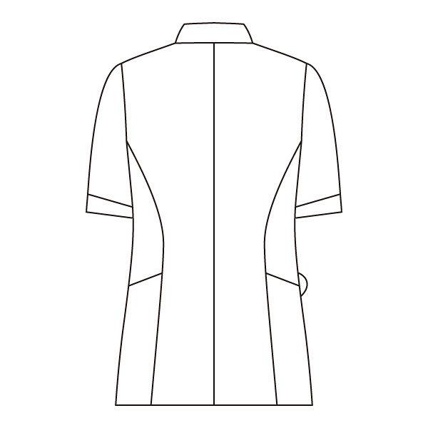住商モンブラン ナースジャケット レディス 半袖 白/ゴールド&ネイビー LL 73-2048 (直送品)