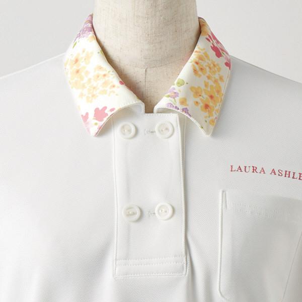 住商モンブラン レディスニットシャツ オフ白×アメリピンク S LW202-12 (直送品)