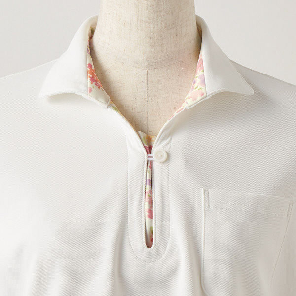 【メーカーカタログ】 住商モンブラン レディスニットシャツ オフ白×アメリピンク LL LW203-12 1枚  (直送品)
