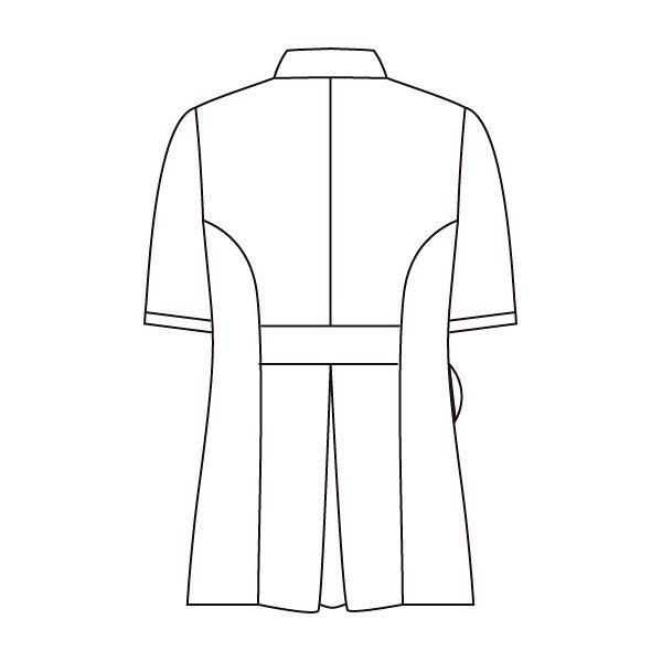 住商モンブラン ローラアシュレイ ナースジャケット レディス 半袖 オフホワイト×アメリブルー 3L LW801-13 (直送品)