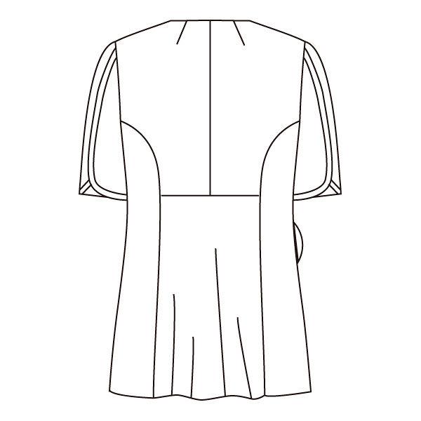 住商モンブラン ローラアシュレイ ナースジャケット レディス 半袖 オフホワイト×アメリブルー L LW802-13 (直送品)