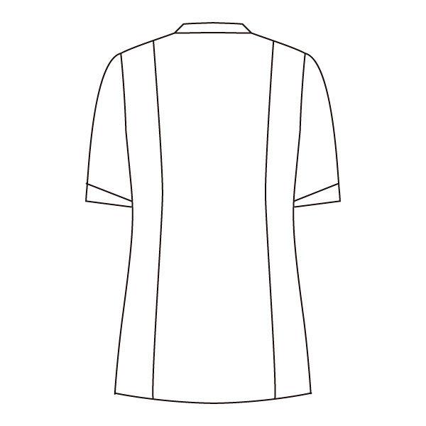 住商モンブラン ローラアシュレイ ナースジャケット レディス 半袖 オフホワイト×アメリブルー L LW803-13 (直送品)