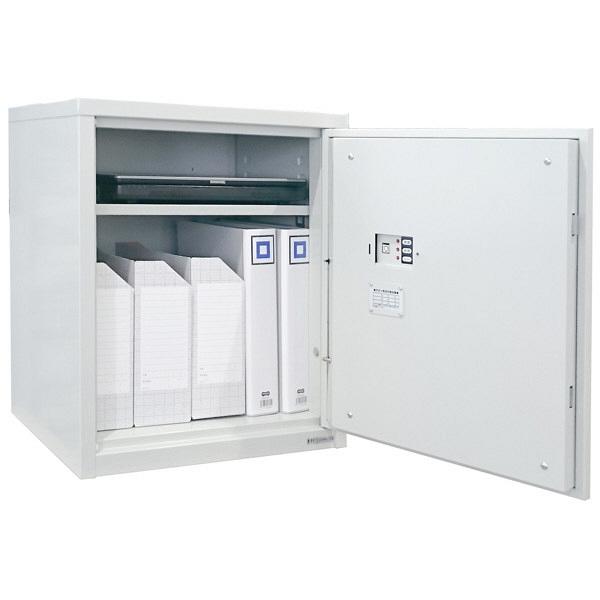 日本アイ・エス・ケイ 指紋認証式  セキュリティ保管庫 60L オフホワイト SB-60FPE 1台 (直送品)