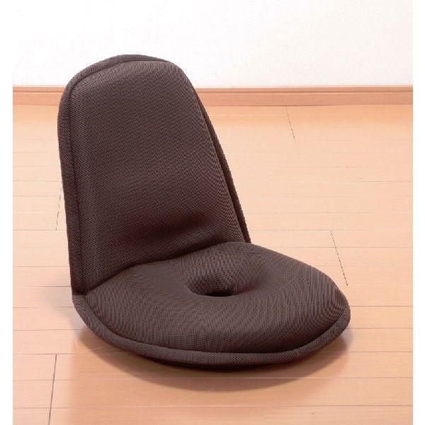 ファミリー・ライフ 低反発円座椅子 ブラウン 1脚 (直送品)