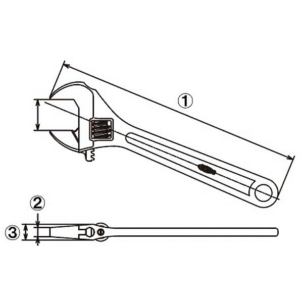 ロブテックス エビ モンキレンチ M600 1本 (直送品)