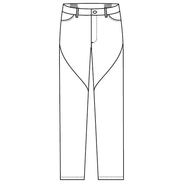 フォーク 医療白衣 ワコールHIコレクション スリムストレートパンツ HI301-9 ブラック M スクラブパンツ (直送品)