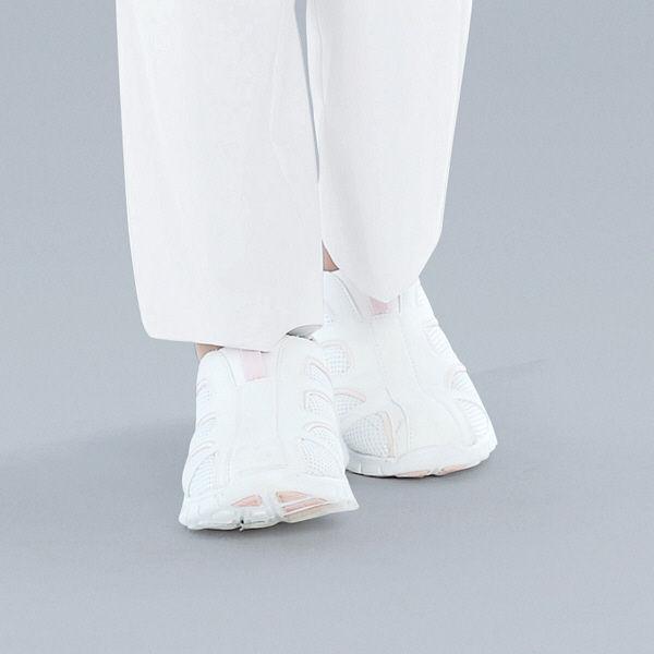 KAZEN スリップオン ナースシューズ 22.5cm ピンク APK188-53 1足 (直送品)