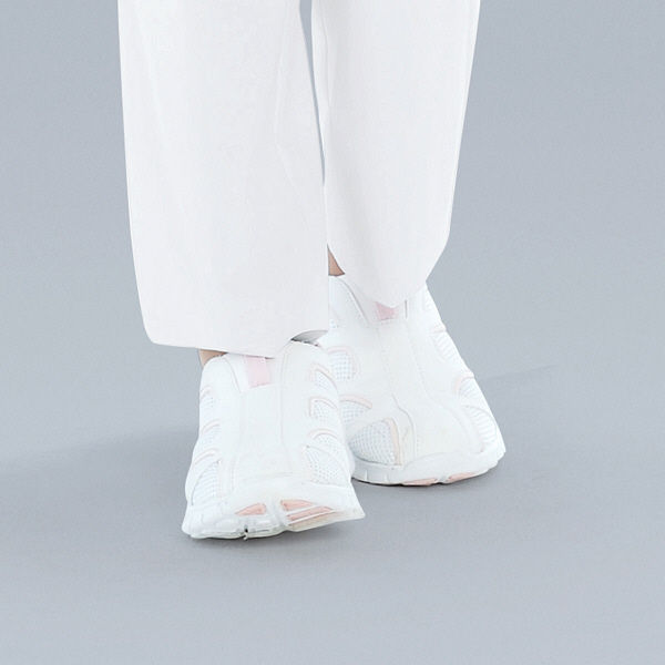 KAZEN スリップオン ナースシューズ 24.0cm ピンク APK188-53 1足 (直送品)