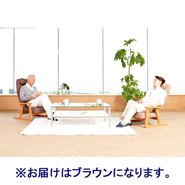 ピーエーエス P!NTO CHAIR LIVING ブラウン チェア 744302 (直送品)