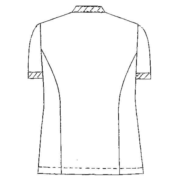 KAZEN ジャケット半袖男女兼用 医療白衣 サックス S 247 (直送品)