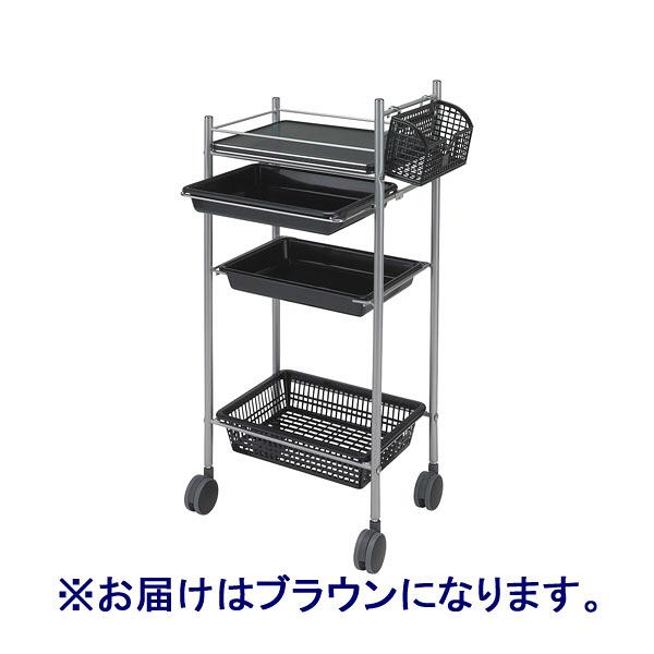 松吉医科器械 カラーアプリワゴン ブラウン ワゴン 001BR 1台  (直送品)