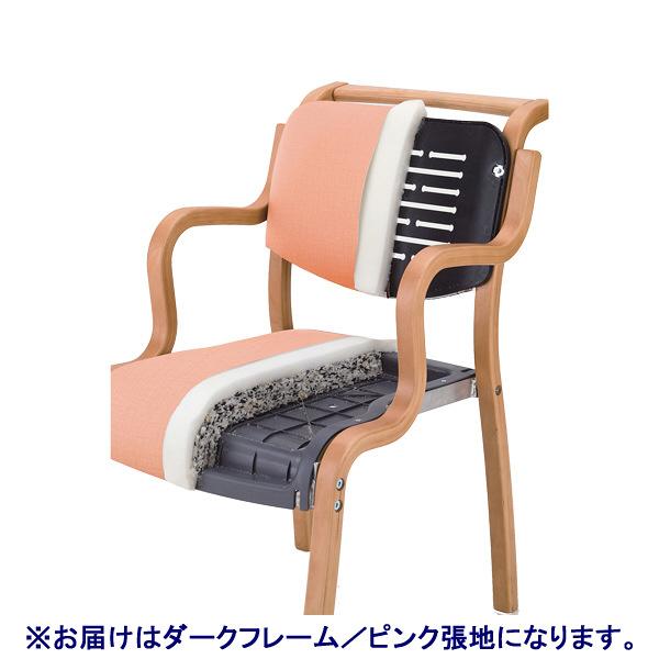 アイリスチトセ テンダーHG レギュラーサイズ 全肘 ダーク/ピンク チェア HG-F-D-P 1脚  (直送品)