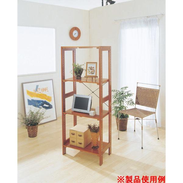 アイリスオーヤマ ウッディラック WOR-5315 ブラウン 1台 (直送品)