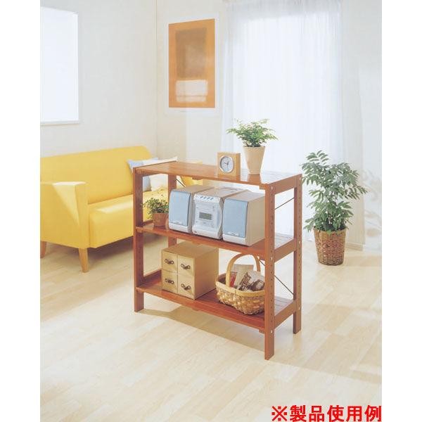 アイリスオーヤマ ウッディラック WOR-8308 ブラウン 1台 (直送品)
