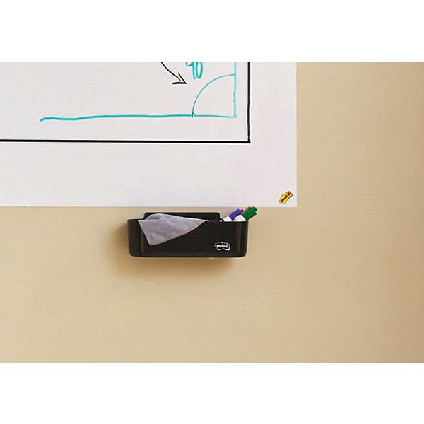 ポスト・イット ペンホルダー 幅220×高さ75×奥行65mm 黒 DEFTRAY 1パック (直送品)