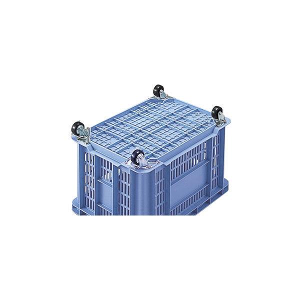積水テクノ成型 コンテナ BS-100 キャスター付き ブルー BSP100B (直送品)