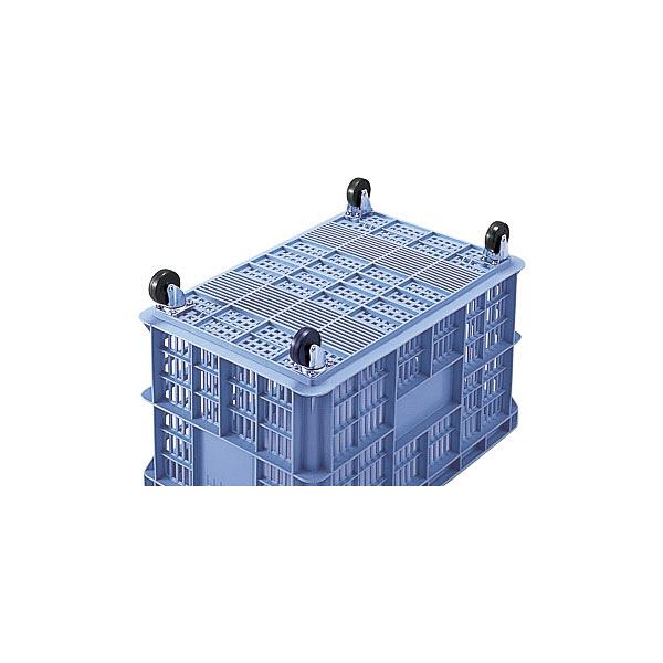 積水テクノ成型 コンテナ BS-140 キャスター付き ブルー BSP140B (直送品)