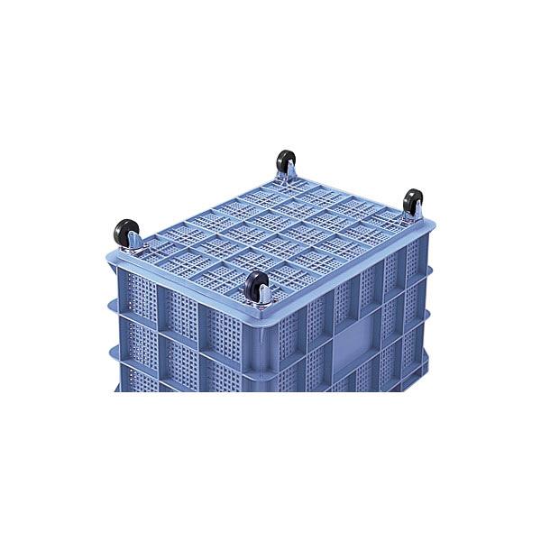 積水テクノ成型 コンテナ BS-200 キャスター付き ブルー BSP200B (直送品)