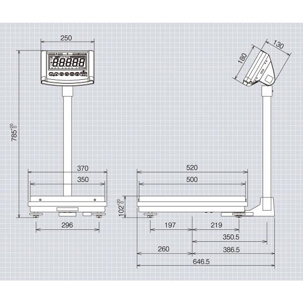 高精度デジタル台はかり 120kg 検定品 DP-6800K-120-15 大和製衡 (直送品)