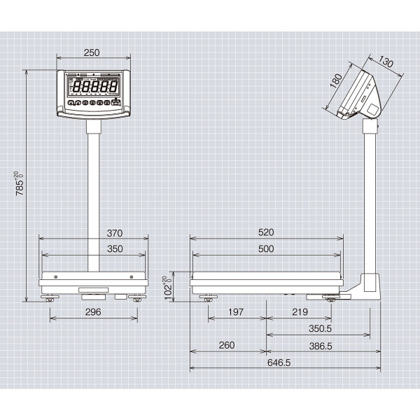 高精度デジタル台はかり 60kg 検定品 DP-6800K-60-10 大和製衡 (直送品)