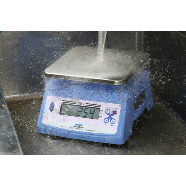防水型デジタル上皿はかり UDS-210W 1200g 検定品 UDS-210W-1200G-5 大和製衡 (直送品)