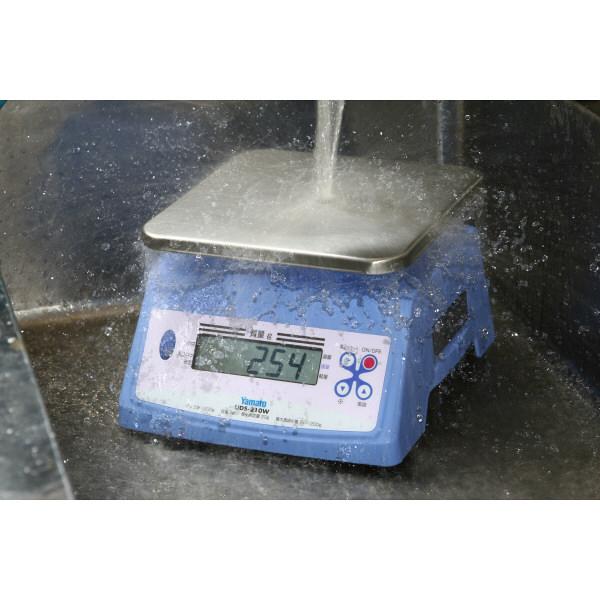 防水型デジタル上皿はかり UDS-210W 2400g 検定品 UDS-210W-2400G-7 大和製衡 (直送品)