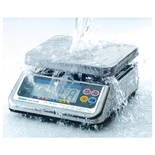 防水型デジタル上皿はかり UDS-1VII-WP 15kg 検定品 UDS-1V2-WP-15-3 大和製衡 (直送品)