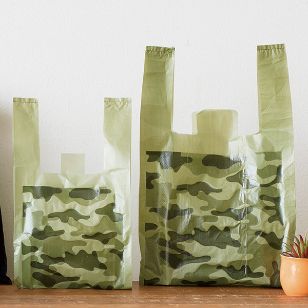 レジ袋 カモフラージュレジバッグ Lサイズ CMO-L-K 1箱(100枚入×20袋)ラッピング用品 ヘッズ(直送品)