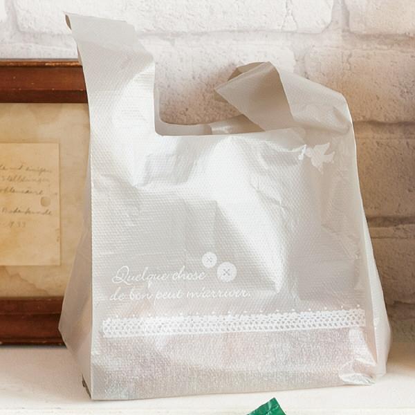 ヘッズ レジ袋 リネンナチュラルレジバッグ Mサイズ LIN-M-K 1箱(100枚入×40袋) (直送品)