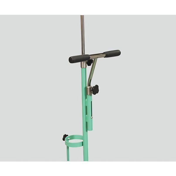 新鋭工業 ガートル架付ボンベカート(ストッパー付き) グリーン 持ち手 固定式 SBC-501GGR 1個 0-7291-11(直送品)