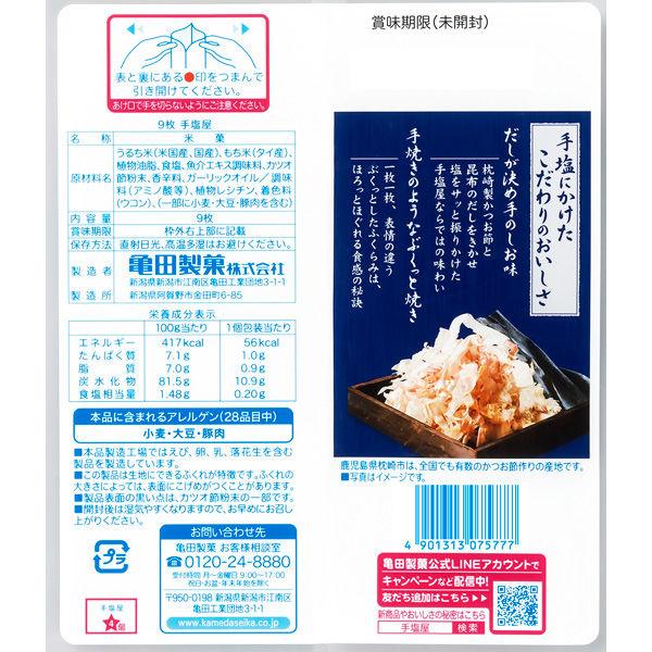 亀田製菓 手塩屋 9枚入