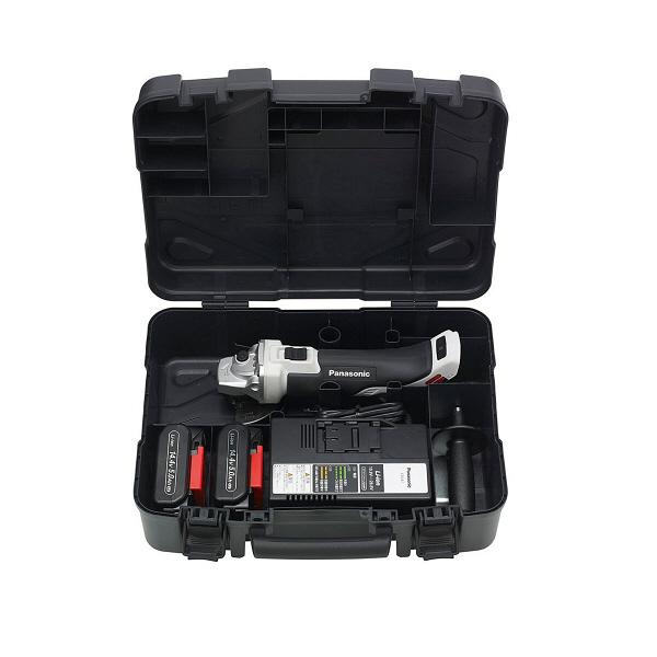パナソニック Panasonic 充電ディスクグラインダー100 14.4V 5.0Ah グレー EZ46A1LJ2F-H (直送品)
