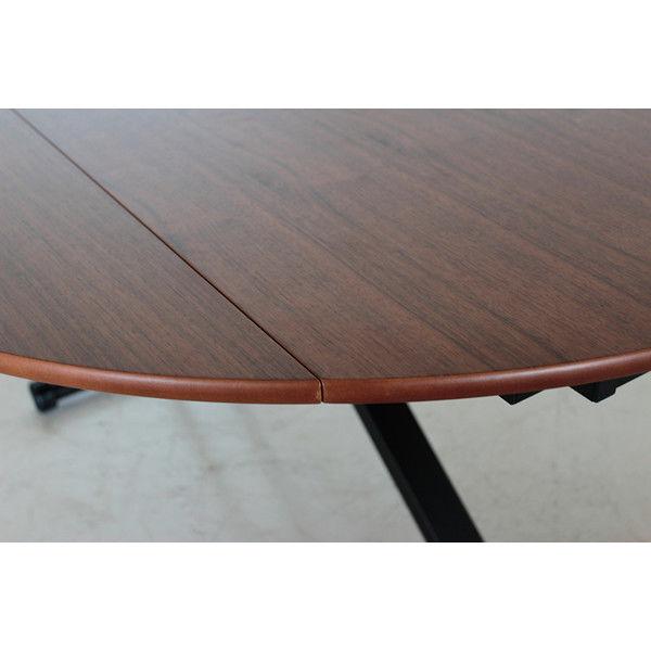 昇降テーブル ブラウン 幅1200×奥行720~1200×高さ380~780mm 54031620 東馬 (直送品)