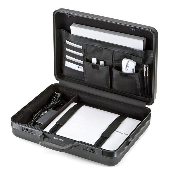 サンワサプライ ABSハードPCケース ブラック 17インチワイドまで対応 BAG-715N2 (直送品)