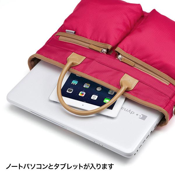 サンワサプライ カジュアルPCバッグ レッド/15.6インチワイドまで対応 BAG-CA9R2 (直送品)