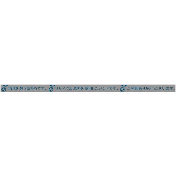 PPバンド ゆうグリーン 15.5mm×2500m グレー 1セット(2巻入) 積水樹脂 (直送品)