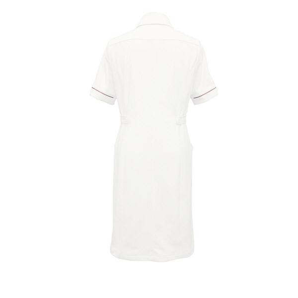 大真 裏地付き透けない白衣 ワンピース 医療白衣 半袖 おしゃれブルー L NS200 (直送品)