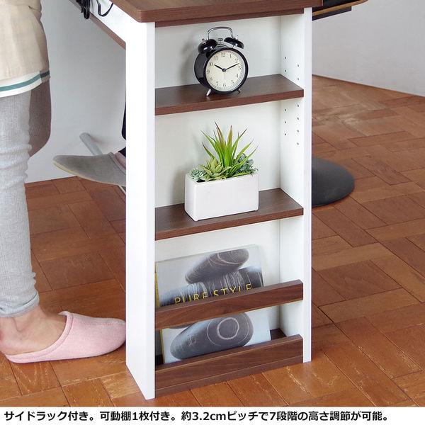 宮武製作所 カウンターテーブル Latte(ラテ) ホワイト 幅1200×奥行395×高さ850mm (直送品)