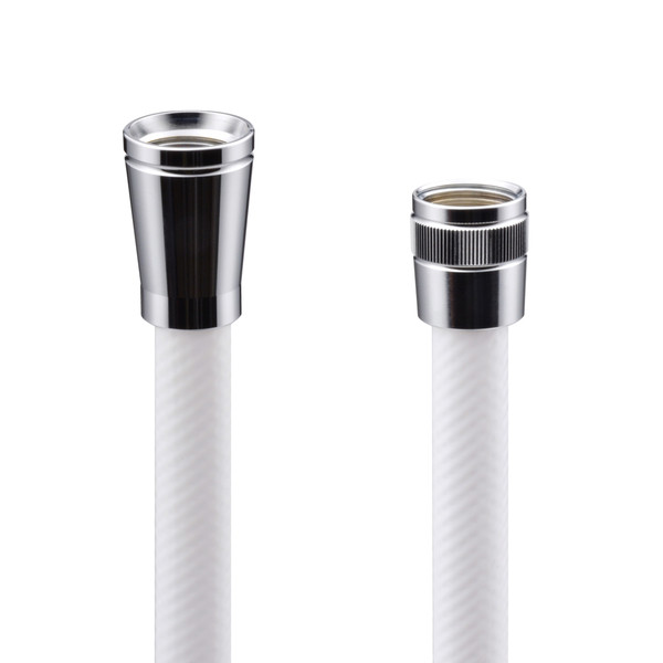 これカモ シャワーホース 取替用 0.6m(アダプター付 ほとんどのメーカーに対応 ホワイト)GA-FK001 (直送品)