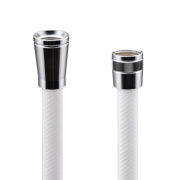 これカモ シャワーホース 取替用 1.0m(アダプター付 ほとんどのメーカーに対応 ホワイト)GA-FK005 (直送品)