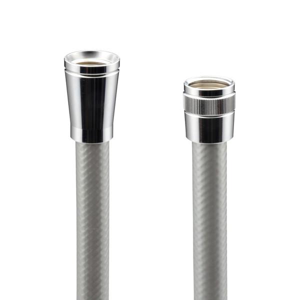 これカモ シャワーホース 取替用 2.1m (アダプター付 ほとんどのメーカーに対応 シルバー) GA-FK071 (直送品)