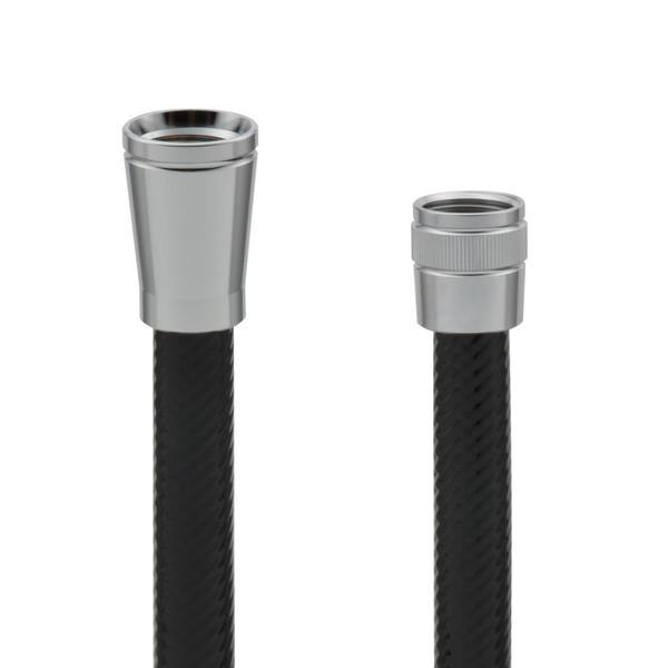 これカモ シャワーホース 取替用 1.6m (アダプター付 ほとんどのメーカーに対応 ブラック) GA-FK091 (直送品)