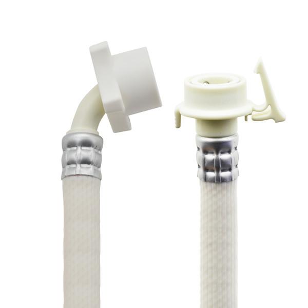 自動洗濯機用 給水ホース 1.5m ワンタッチ給水ジョイントセット(水漏れ防止 ストッパーつき 取付ネジ2サイズ兼用 取付簡単) GA-LC011 (直送品)