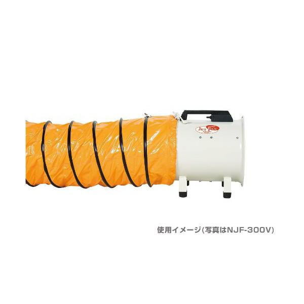 NAKATOMI 200mm軸流送風機 全閉式 NJF-200V (直送品)