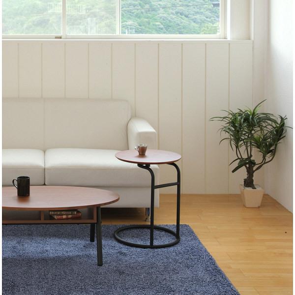 あずま工芸 Beak(ビーク) サイドテーブル ウォルナット 幅400×奥行400×高さ530mm (直送品)