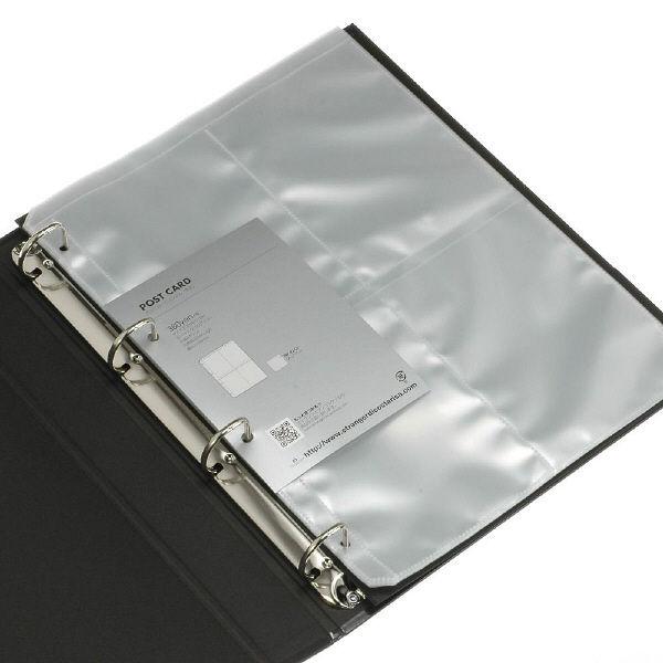 エトランジェ・ディ・コスタリカ A4葉書ファイル[SOLID2]ブラック SLD2ー20ー02 3冊 (直送品)