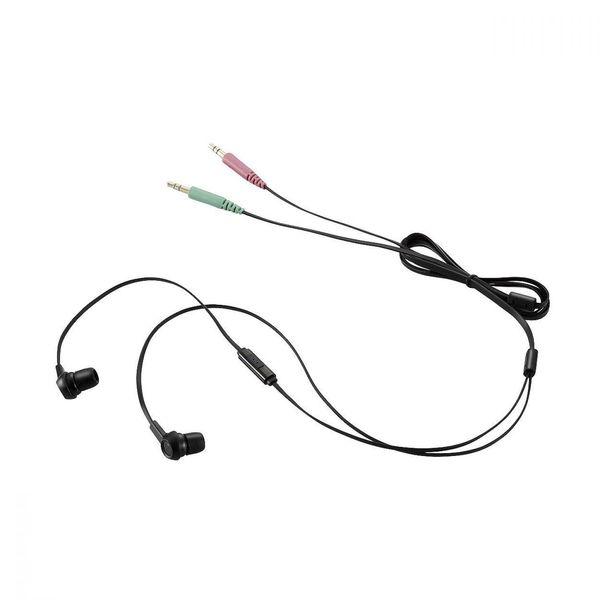 エレコム ヘッドセットマイクロフォン 両耳カナルイヤホンタイプ 1.3m HS-EP12BK (直送品)