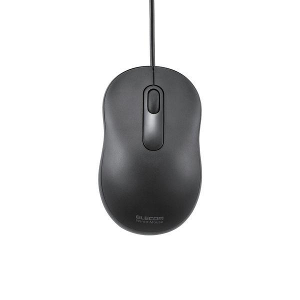 エレコム 有線マウス 光学式 Sサイズ ブラック M-Y6URBK (直送品)